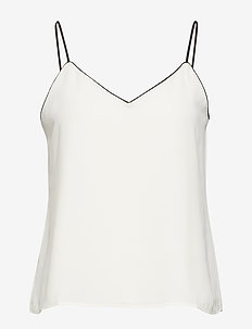 Strappy Camisole with Piping - SNOW DAY