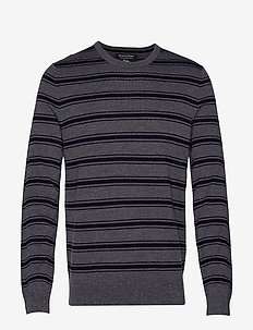 Italian Merino Crew-Neck Sweater - CHARCOAL HEATHER