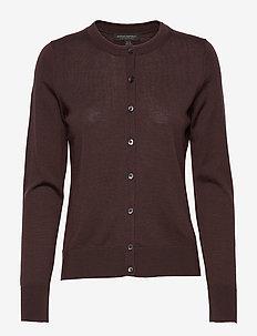 Washable Merino Cardigan Sweater - gilets - bark