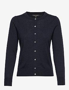 Washable Merino Cardigan Sweater - NAVY