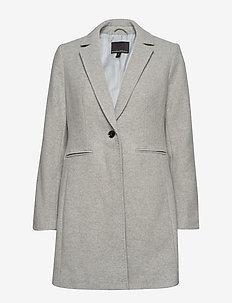 Italian Melton Topcoat - manteaux de laine - lt grey