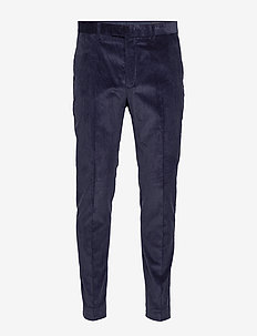 Slim Tapered Italian Corduroy Suit Pant - NAVY