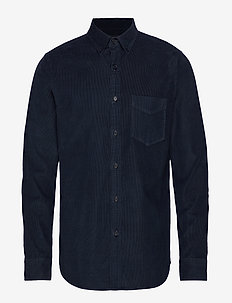 Slim-Fit Corduroy Shirt - MIDNIGHT NAVY
