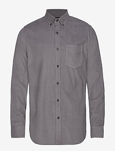 Slim-Fit Corduroy Shirt - ROCK GREY