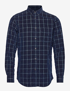 Slim-Fit Corduroy Shirt - BLUE INDIGO