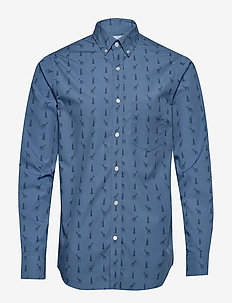 Untucked Slim-Fit Luxe Poplin Shirt - casual - vgiraffe print