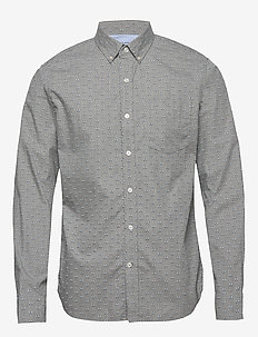 Untucked Slim-Fit Luxe Poplin Shirt - GREY/BLACK