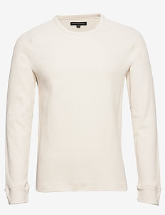 Core Temp Waffle-Knit T-Shirt - basic t-shirts - transition cream