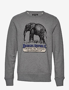 French Terry Graphic Sweatshirt - MED GREY HEATHER