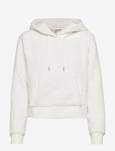 Cropped Sherpa Fleece Hoodie - SNOW DAY