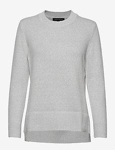 Super Soft Cotton Hi-Low Hem Sweater - LIGHT GREY