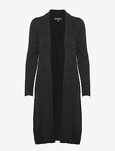 Italian Wool-Blend Duster Cardigan - BLACK