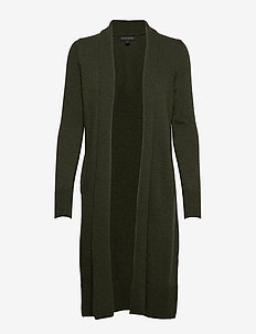 Italian Wool-Blend Duster Cardigan - FOREST GREEN 907