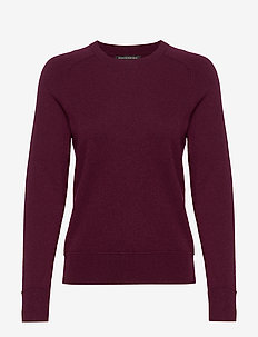 Italian Merino-Blend Crew-Neck Sweater - pulls - burgundy wine