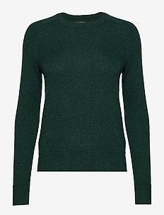 Italian Merino-Blend Crew-Neck Sweater - FOREST GREEN 907