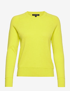 Italian Merino-Blend Crew-Neck Sweater - pulls - neon yellow