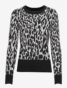Leopard Crew-Neck Sweater - pulls - cool leopard