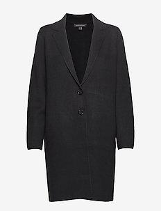 Cocoon Coatigan Sweater - BLACK