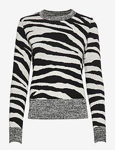 Zebra Print Wool-Blend Sweater - VZEBRA PRINT