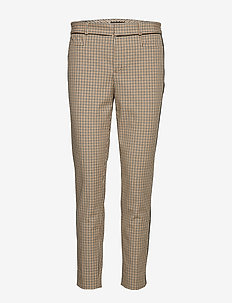 Modern Sloan Skinny-Fit Washable Pant with Piping - DARK BROWN