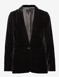 Velvet Soft Blazer - blazere - br black