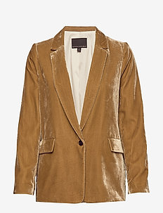 Velvet Soft Blazer - TOASTED MARSHMALLOW
