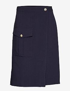 Utility Wrap Skirt - jupes midi - preppy navy