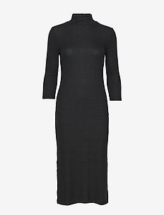 Luxespun Turtleneck Dress - BLACK K-100