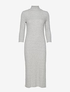 Luxespun Turtleneck Dress - LT HEATHER GREY BC14