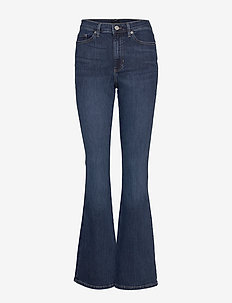 High-Rise Flare Jean - flared jeans - dark indigo 799