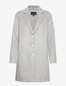Unlined Double-Faced Topcoat - manteaux de laine - light grey