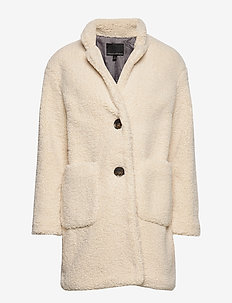Sherpa Cocoon Coat - NEW OFF WHITE
