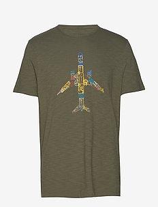 Airplane Graphic T-Shirt - ADIRONDACK GREEN