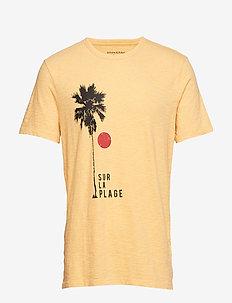 Vintage 100% Cotton Graphic T-Shirt - LAGUNA YELLOW