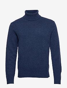 Italian Merino Turtleneck Sweater - podstawowa odzież z dzianiny - blue marl ws