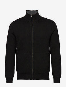 Sweater Jacket - basic-strickmode - black