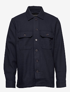 Slim Double-Weave Shirt Jacket - NAVY