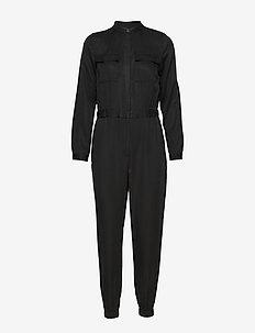 TENCEL™ Flight Jumpsuit - BLACK K-100