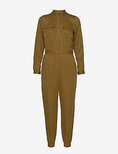 TENCEL™ Flight Jumpsuit - CINDERED OLIVE