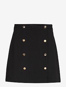 Trench Mini Skirt - BLACK K-100