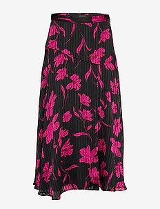 Floral Asymmetrical Skirt - PINK FLORAL