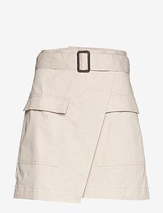 Utility Wrap Skirt - STONE