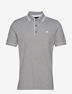 I Tipped Pique Polo - HEATHER GREY