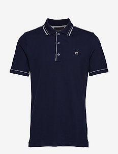 I Tipped Pique Polo - PREPPY NAVY
