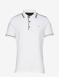 I Tipped Pique Polo - WHITE 500