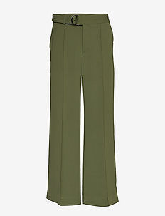 High-Rise Wide-Leg Utility Pant - wide leg trousers - organic olive