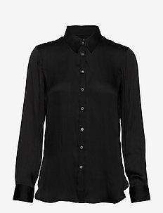 I DILLON SOFT SATIN - bluzki dlugim rekawem - black k-100