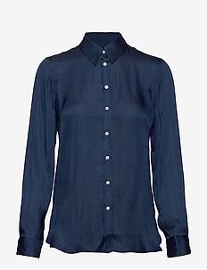 I DILLON SOFT SATIN - blouses à manches longues - indigo fog