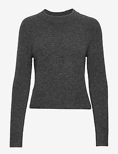 Aire Cropped Sweater - pulls - medium grey f99