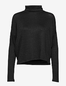 Luxespun Boxy T-Shirt - BLACK K-100